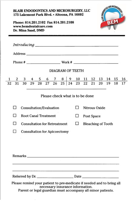 Referral Slip